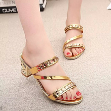 Buy Summer Style Sandals Bling Rhinestone Flats Women Platform Wedges Sandals Fashion Flip Flops Comfortable Shoes Woman Size US 10 for $11.96 in AliExpress store