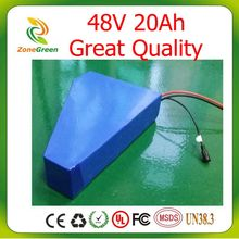 48V 20AH Triangle shape electric bike battery for 300W-1440W motor li-ion lithium battery electric scooter with 3A Charger +Bag