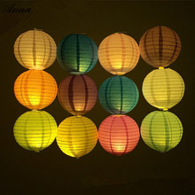 10 inch Round Chinese Paper Lantern Birthday Wedding Party decor gift craft DIY lampion white hanging lantern ball party supplie(China)