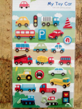 Pretty Cartoon Toy Car Printed Felt Sticker DIY Nonwoven Felt Fabric