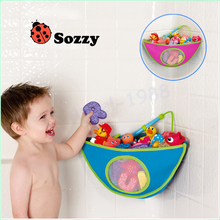 SOZZY bathroom corner bath toy bag for children finishing pouch finishing bags swim toys storage baby products(China)