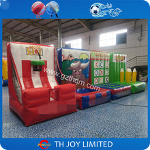 new design 4 in 1 Carnival Game Inflatable Sports Game for Children / basketball snowball baseball rugby 4 in 1 inflatable games
