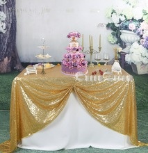 "Gold Sequin Tablecloth Linens Table Cloths square tablecloth rectangle tablecloth 90""X90"" (225cmX225cm)"