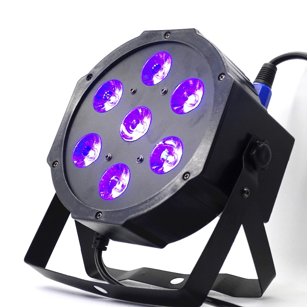 Fast shipping 7x12w Wireless Remote  led Par lights  RGBW 4in1 flat par led dmx512  disco lights professional stage dj equipment