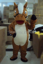 Lovely Brown Horse adult Mascot Costume For Festival/Hallooween/Christmas