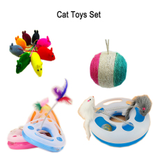 13pcs/set cat toys set Creative Mouse Pet Cat Toys Cheap Mini Funny Mice Animal Playing Toys For Cats scratch board Cat toys