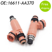 2pcs 16611-AA370 Pink Fuel Injector For Subaru STI WRX Forester Impreza 2.5L 2.0L 16611AA370 195500-3910 16611-AA510 1955003910(China)