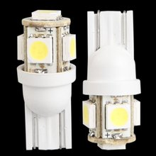 20pcs T10 194 168 W5W 5 5050 SMD LED light bulb xenon white car taillight