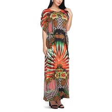 Buy Women Maxi Long Dress Summer Boho Casual Loose Plus size Dresses Print Beach Vestidos Short Sleeve 2018 Fashion Sashes for $13.94 in AliExpress store