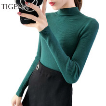 ad23679020 TIGENA Korean Style Slim Sweater Women Jumper 2018 Autumn Winter Long  Sleeve Pullover Sweater Female Pull Femme Pink White Green