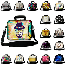 "Free Shipping Durable Fashion Computer Briefcase 17"" 16"" Unisex Notebook Laptop Shoulder Bags Cases + Handle For HP ASUS Lenovo"