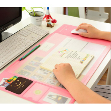 Hot Sale Cute Multi-function Large Size Computer Mouse Pad Fashion Desk Pad PVC Waterproof Candy Color Laptop Mice Pad Dec26(China)