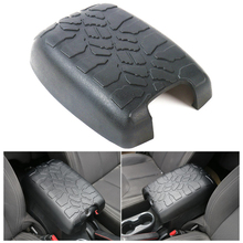 Black Rubber Armrest Box Top Cap Cover for Jeep Wrangler 2007-2016 Arm Rest Cabinet Caps Wheel Pattern Decoration Covers