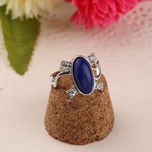The Best-Selling Blue Oil Ring Five Size 16 17 18 19 20 Twilight Vampire Girlfriends Love Jewelry Surprise Birthday Gift
