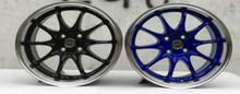 CE28 16x7.0 4x100 Black and Blue Car Alloy Wheel Rims(China)