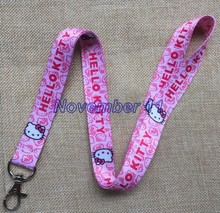 Lot 10Pcs Classic hello kitty Cartoon Mobile Cell Phone Lanyard Neck Straps Party Gifts MM915(China)