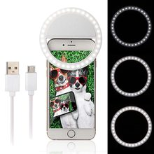 Mobile Phone LED Selfie Ring Light 36 LED Selfie Flash Light for iPhone 7 7Plus for Samsung Oppo Vivo Oneplus Cellphone(China)