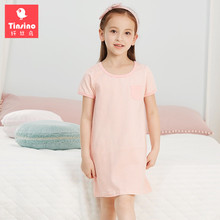 Buy Tinsino Children Girls Summer Nightgowns Girl's Princess Stripes Nightdress Kids Girl Short Sleeve Sleepwear Girls Pajamas for $11.35 in AliExpress store