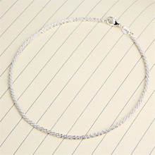new silver color Sexy Women Hemp Ankle Chain Anklet Bracelet Foot Jewelry Sandal Beach #30(China)