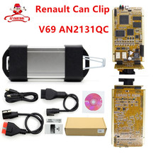2017 Newest V169 For Renault Can Clip Full Chip Gold CYPRESS AN2131QC OBD2 Diagnostic Interface For Renault 1998-2016 CNP Free(China)