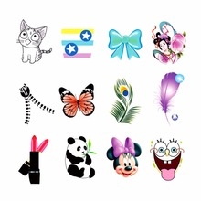 WUF 1 Sheet Optional DIY Decals Panda Feather Cat BOW etc Designs Nails Art Water Transfer Printing Stickers Tools For Nails Art