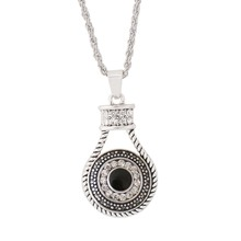 Fashion Different style fit 18mm snap button Statement necklace Pendants Initial Necklace Silver Choker Necklace Women Jewelry(China)