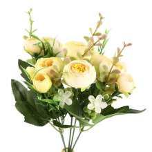 Superior quality10 Heads Artificial Camellia Flower Bouquet Home Party Wedding Decoration Cheap Price Stylish
