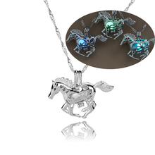 Luminous Necklace Hollow Horse Necklace GLOW in the DARK night luminous gift FOR YOURS women necklace