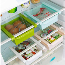 Plastic Fridge Shelf Storage Rack Case Drawer Slide Under Table Food Remote Holder Container Household Organizer Box Sliding(China)