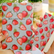 1Pc Kawaii Fruit strawberry/ watermelon Notebook Journal Diary Notepad Vintage Soft Copybook Cute Stationery