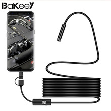 Bakeey 3-in-1 USB Rigid Cable Endoscope Lens For Android phone For PC/PAD 7mm Type-c USB Inspection Camera Wire Snak Tube(China)
