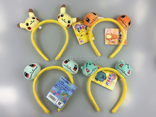 Free Shipping EMS 50/Lot Charmander Squirtle Bulbasaur plush Doll hair hoop Cookie Monster headband New(China)