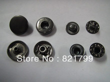 10mm metal button for sewing black gun colorsnap button press metal button nickel brass button(China)