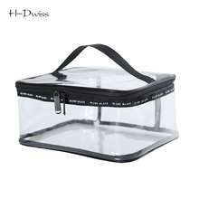 HDWISS Environmental Protection PVC Transparent Cosmetic Bag Women Travel Make up Toiletry Bags Makeup Organizer Case CB0173