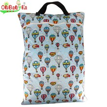 Ohbabyka Baby Changing Bag 10 Colors Portable Diaper Cloth Large Wet Bag Durable Clothes Basket Washable Baby Nappies Diaper Bag