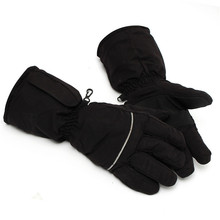 Black Heated Gloves Battery Powered For Motorcycle Hunting Winter Warmer Outdoor Skiing Glove
