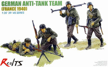 RealTS 1/35 Soldier German ARMY Anti Tank Team WW2 military model kit Dragon 6196