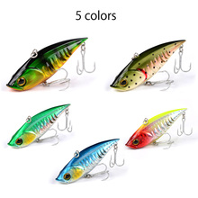 Meredith Fishing Rattlesnake Lures 5pcs 18g 7.5cm VIB Lures Fishing Vibration For All Water Levels Wobblers Hooks Carp Fishing(China)