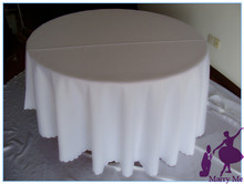 15pcs Round TableCloth Made Of 100% Polyester white tablecloths For Wedding &Hotel&Banquet