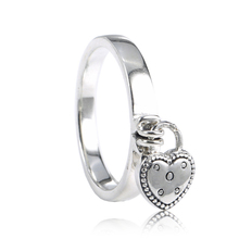 2018 Valentineu0027s Day Authentic 925 Sterling Silver Original Love Lock  Pendant Pandora Ring For Charm Women