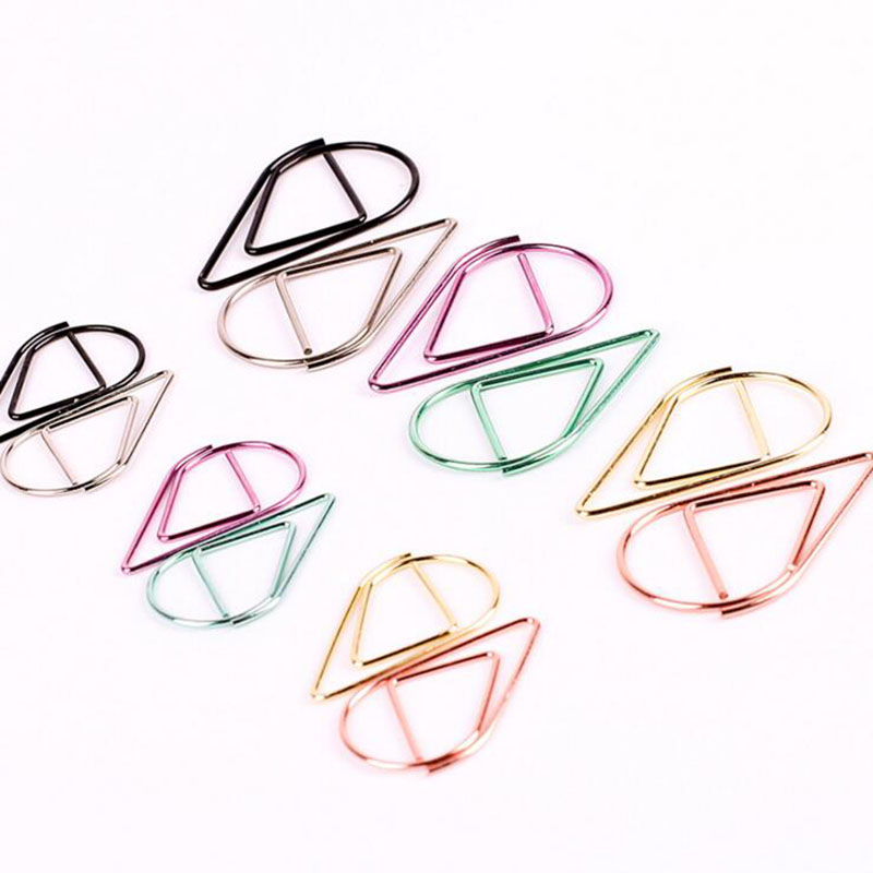 AC47 10pcs/bag Lovely Creative Ice Cream Design Mini Metal Bookmark Paper Clip School Office Supply Student Stationery Marker(China)
