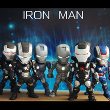 New Style Iron Man Action Figure Toys Mini Egg Attack Ironman Figure One pack of six Anime Dolls Brinquedos(China)