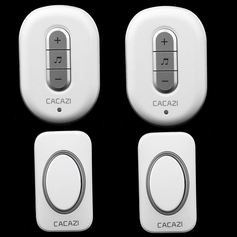 home door ring 2 transmitters+2 receivers AC 110/220V Wireless Doorbell 280M remote control Waterproof  Door Bell model No.C9918<br><br>Aliexpress