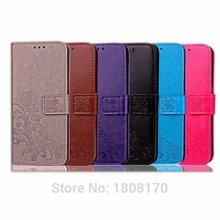 Strap Flower Flip Wallet Leather Pouch Case For Xiaomi Redmi NOTE4 4A Redmi 2 2A Huawei NOVA LG K5 Clover Lucky Soft Cover 1pcs