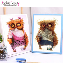 Diamond Embroidery Diy Diamond Painting Cross Stitch Kits Diamond Mosaic Crystal 7 Style Cute Owls Embroidery Beads Needlework(China)