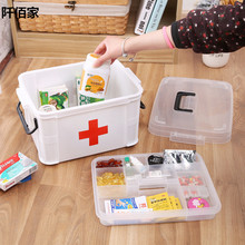 Multifunctional Plastic White Family Medical Kit First Aid Box Home Emergency Care Medicine Cabinet Health Care Drug Storage Box