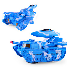 New Creative Deformation Tank Children Universal Electric Vehicle Puzzle Military Model Toys(China)