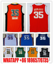 Wholesale Men's Kevin Durant Jersey Navy Blue White Cheap Stitched 2016 New Orange #35 Kevin Durant College good Jerseys
