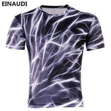 EINAUDI 2017 Men Fashion 3D Animal Creative T-Shirt, Lightning/smoke lion/lizard/water droplets 3d printed short sleeve T Shirts