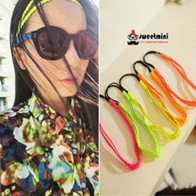 12pcs/lot Double PU Leather Braided Elastic Headband Braid Hairbands Plaited Hair Band Fashion Hair Accessory Mix Colors(China)
